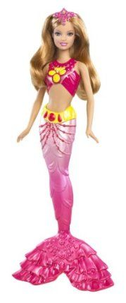 Barbie In a Mermaid Tale 2 Mermaid South America Doll by Mattel. $14.99. Based on the Barbie's newest animated movie, Barbie in A Mermaid Tale 2. Collect all of the Mermaid Tale 2 Mermaids. Beautifully detailed bodice and mermaid tail. Color changing features with cold water activation. Girls can have fun acting out scenes from the movie. From the Manufacturer                Barbie in a Mermaid Tale 2 Mermaid Collection: In the movie Barbie in A Mermaid Tale 2, these magical Roya...