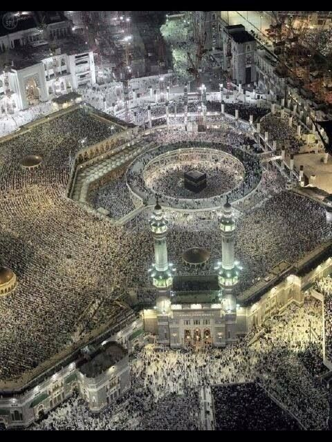 Only the most amazing and the most beautiful religon can bring so many people together......Islam