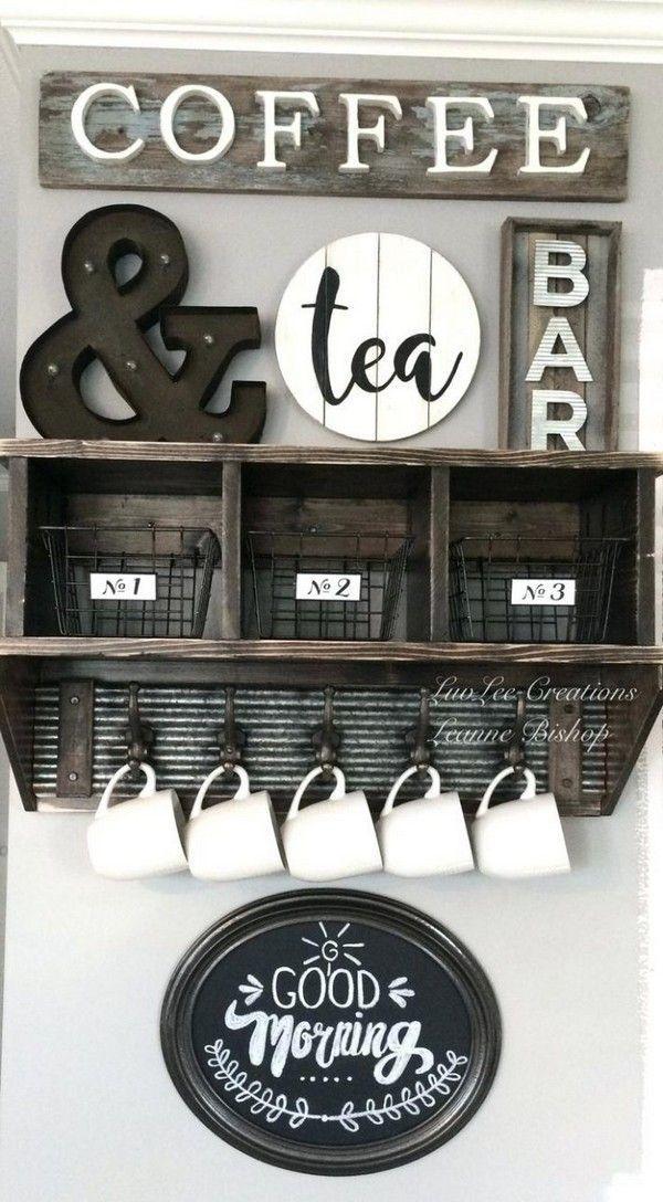 15 außergewöhnliche DIY Coffee Bar Ideen für Ihr gemütliches Zuhause #coffee