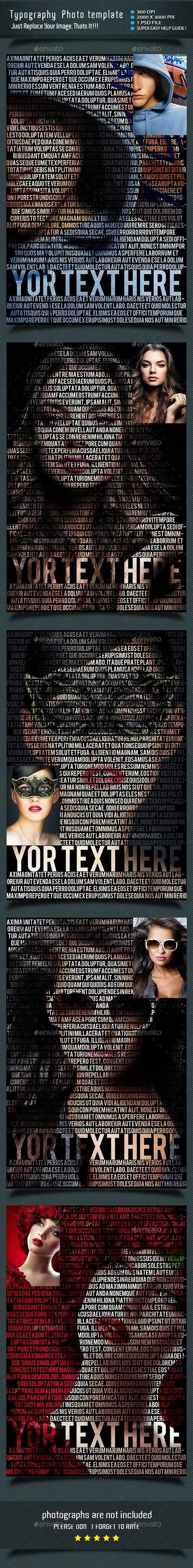 Typography Photo Template PSD #design Download: http://graphicriver.net/item/typography-photo-template/10000040?ref=ksioks