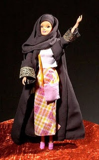 A doll created to reflect the image of a Muslim woman is outselling its western rival, Barbie, in several countries across the Middle East. The Fulla doll first came to the Syrian market in 2003 and has proved so popular that it is now used in advertising and is to feature in a film. (Fulla in her abaya.)