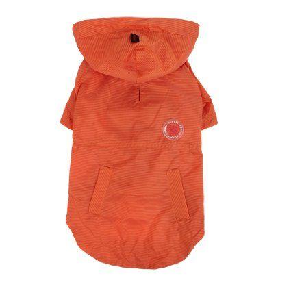 Amazon.com : PUPPIA Authentic Windbreaker Pet Raincoat, Small, Orange : Pet Supplies