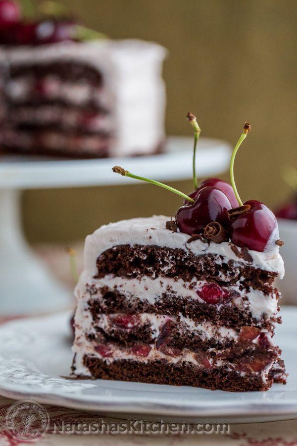 Drunken Cherry Chocolate Cake-7-2