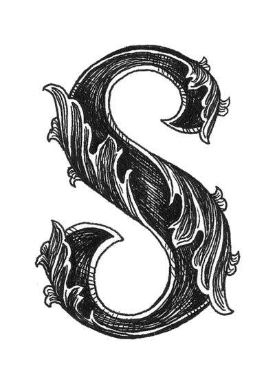 Leaf Script S Art Print