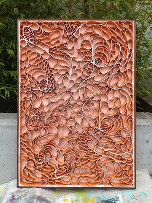 Canvas and acrylic sculpture.  Seattle Artists: Jason Hallman + Stephen Stum
