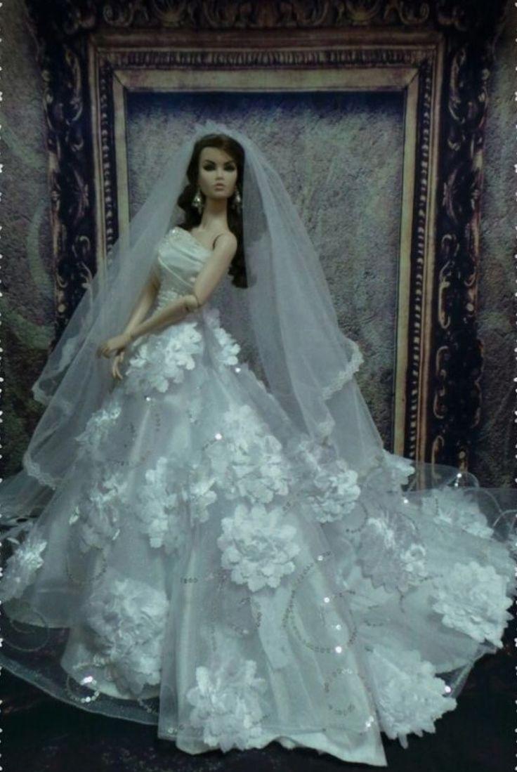 64 best Wedding Barbie Dolls images on Pinterest | Barbie bridal ...