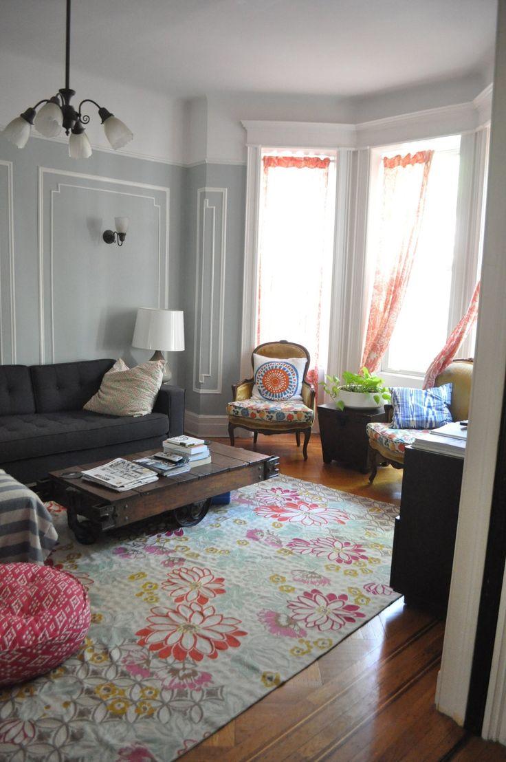 57 best bedroom living room images on pinterest for Colorful whimsical living room