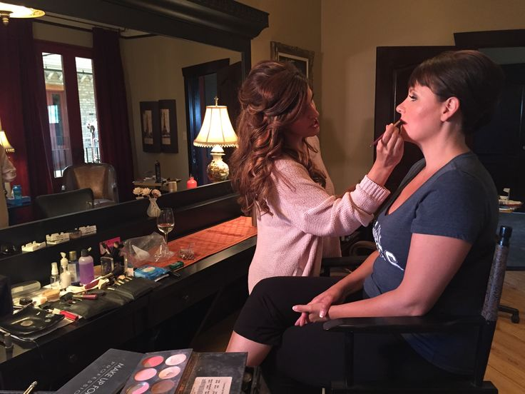Sonia Ryan getting the #LabourOfLoveKW host ready for filming