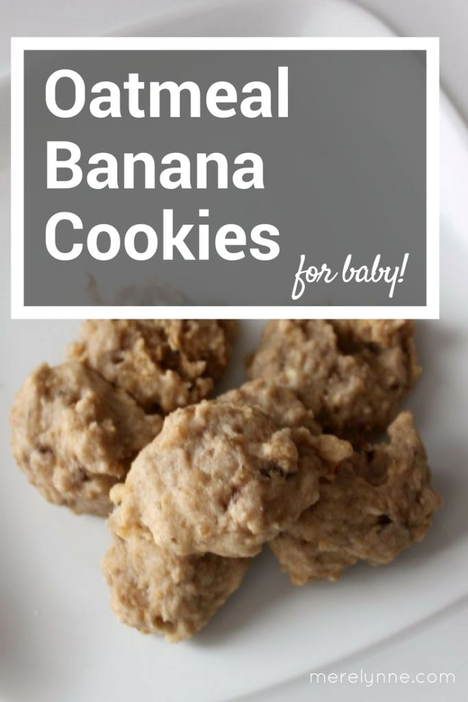 oatmeal banana cookies for your baby! These cookies have no added sugar and are great for little ones who are teething.