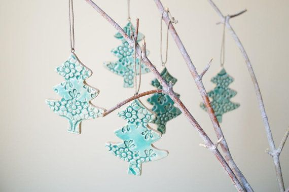 Christmas Tree Ornament Holiday Ornament Hanging by bemika on Etsy