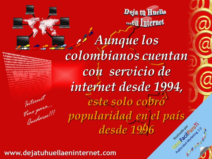 A finales de la decada de los 90 Colombia contaba con más de cincuenta ISP´s (Proveedor de servicios de Internet) que ofrecian diversas modalidades de acceso