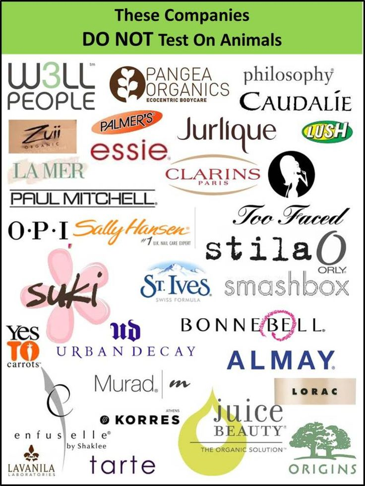 These Companies DON'T Test On Animals   …except tarte started selling to china not too long ago so now they aren't cruelty free technically :(
