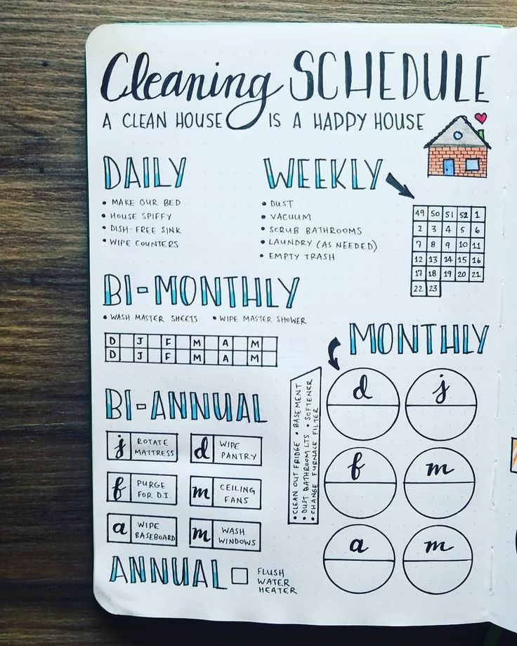 image about Bullet Journal Symbols Printable named 13 Amazing Bullet Magazine Cleansing Timetable Designs