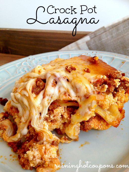Crock Pot Lasagna Recipe (Click Image)