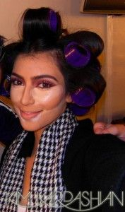 Great description/pics of the highlighting and contouring used to create Kim Kardashian's makeup look
