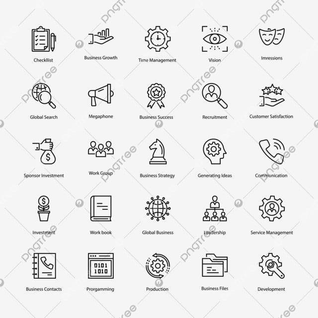 Business Line Icons Set Business Icons Line Icons Png And Vector With Transparent Background For Free Download In 2020 Line Icon Free Icon Set Logo Design Free Templates