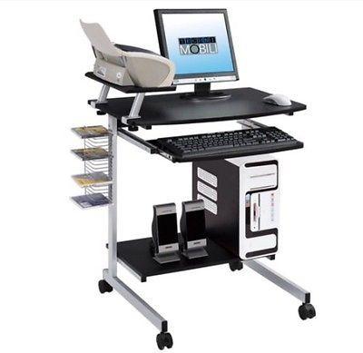 NEW Techni Mobili Mobile & Compact MDF Computer Cart, Graphite
