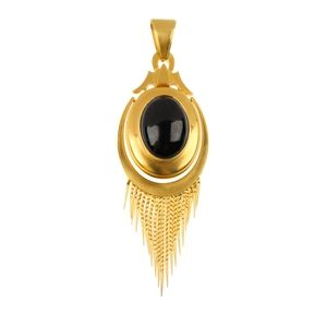 A late 19th century gold garnet locket