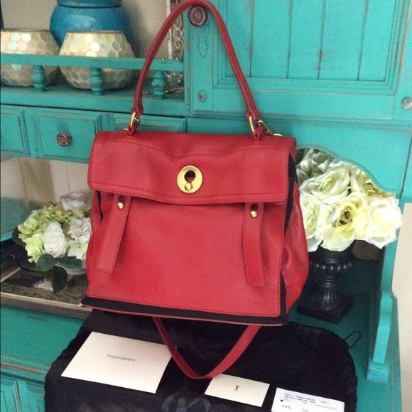 ysl muse two leather bag
