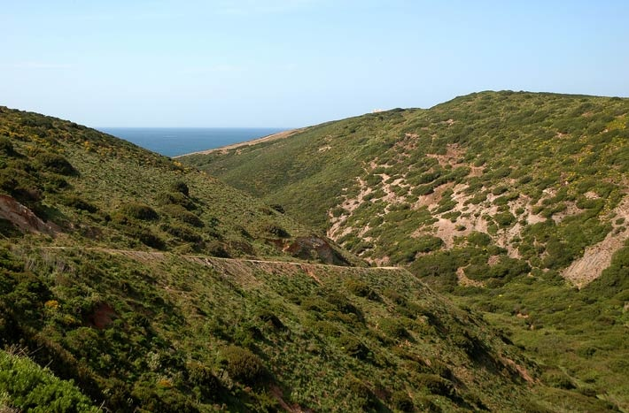 Untouched coastal wilderness along the west coast of Portugal.  You can explore the Rota Vicentina on foot or by bicycle.