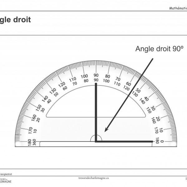 MAT00040-langledroit Ce document vous servira de référence pour la notion de l'angle droit. Vous pouvez l'afficher en classe ou l'inclure dans vos cahiers de notions.  #Affiches #Mathématiques #affiche #angle #Mathématique #mesure