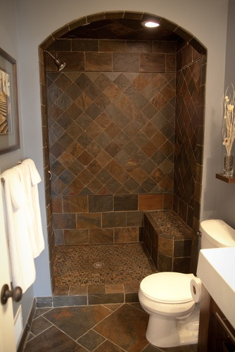 78 best ideas about slate shower on pinterest slate for Custom bathrooms
