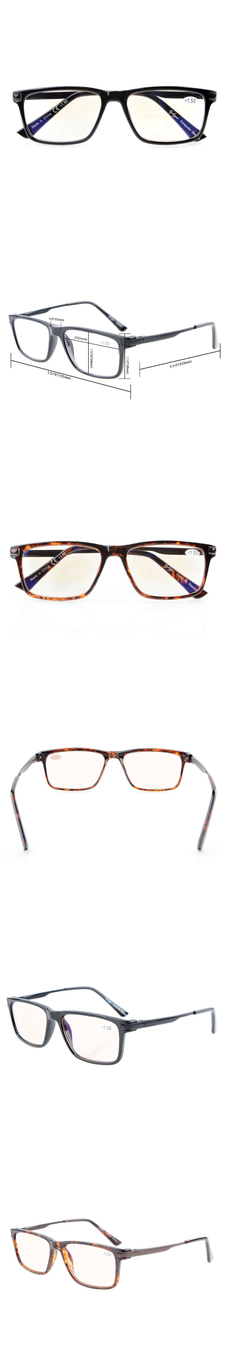 CGTR005 Eyekepper Amber Tinted Lenses Computer Readers Quality TR90 Frame Spring Hinges Computer Reading Glasses