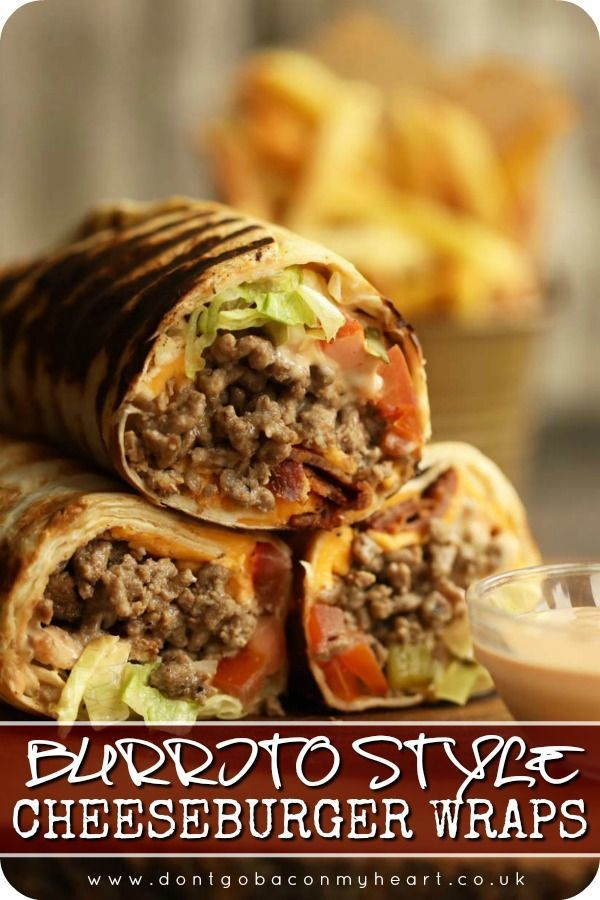 Burrito Style Cheeseburger Wraps Recipe In 2020 Cheeseburger Wraps Wrap Recipes Beef Wraps