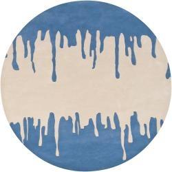 geometric blue rug #blue