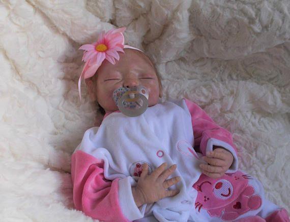 Baby Girl Doll OoaK newborn polymer clay 46 cm
