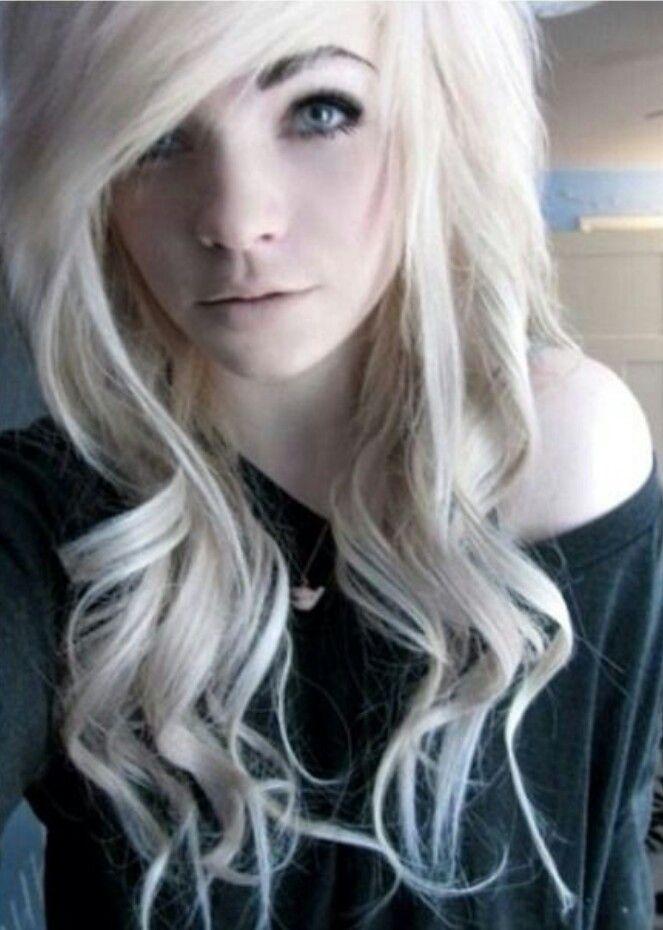 Scene Girls With White Hair
