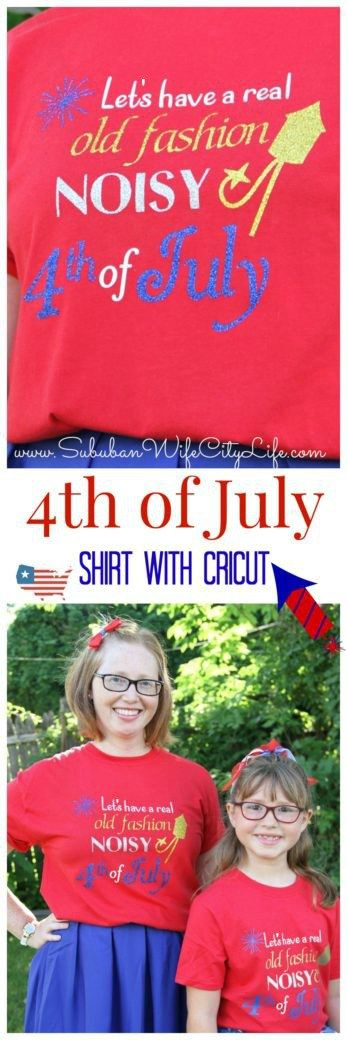 4th of July shirts with Cricut DIY