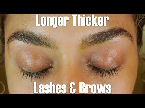 How to Grow Thicker, Longer Lashes and Brows - YouTube