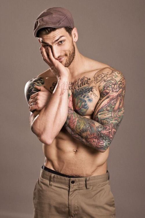 #hot #guy #tattoos - Click image to find more Art Pinterest pinsTattoo Men, Tattoo Sleeve, Sexy, Adam Von, Body Art, Eye Candies, Hotguys, Hot Guys, Ink