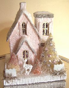Cody Foster Pink Christmas House