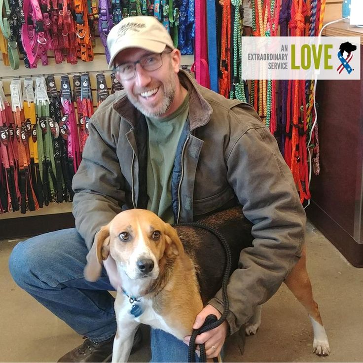 Meet our first adoptees through our partnership with @vbspca Pet Supplies & Adoption Center: Michael, active duty Coast Guard and 3 year-old Gracey!