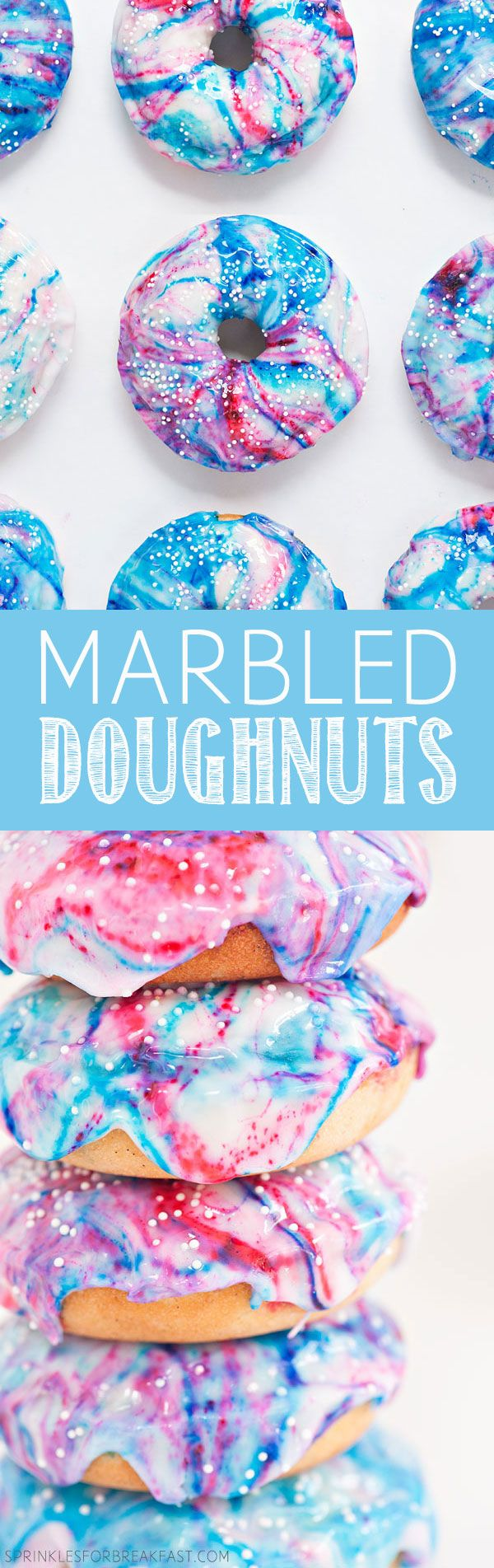 Marbled Doughnuts | Sprinkles for Breakfast