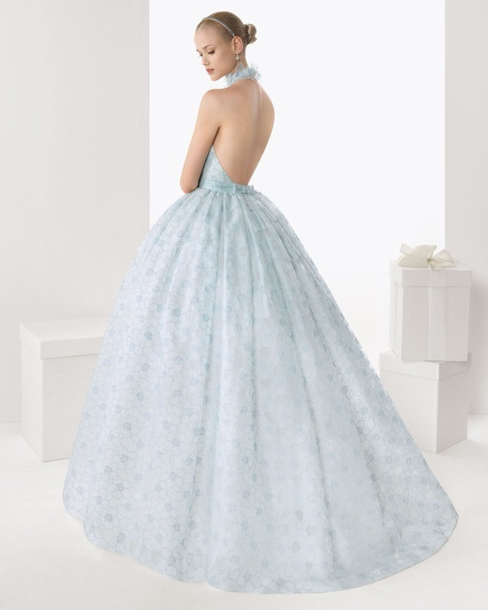 Lovely ice blue wedding dress wedding charmed for Ice blue wedding dress