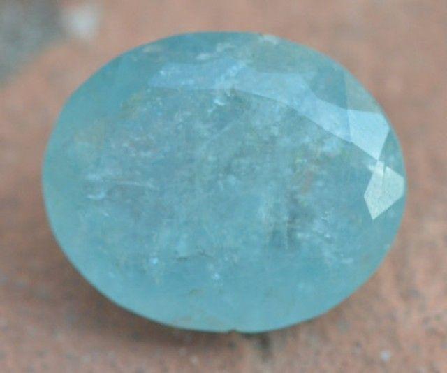 44.50ct 25mm Aquamarine gemstone oval blue | gemstone