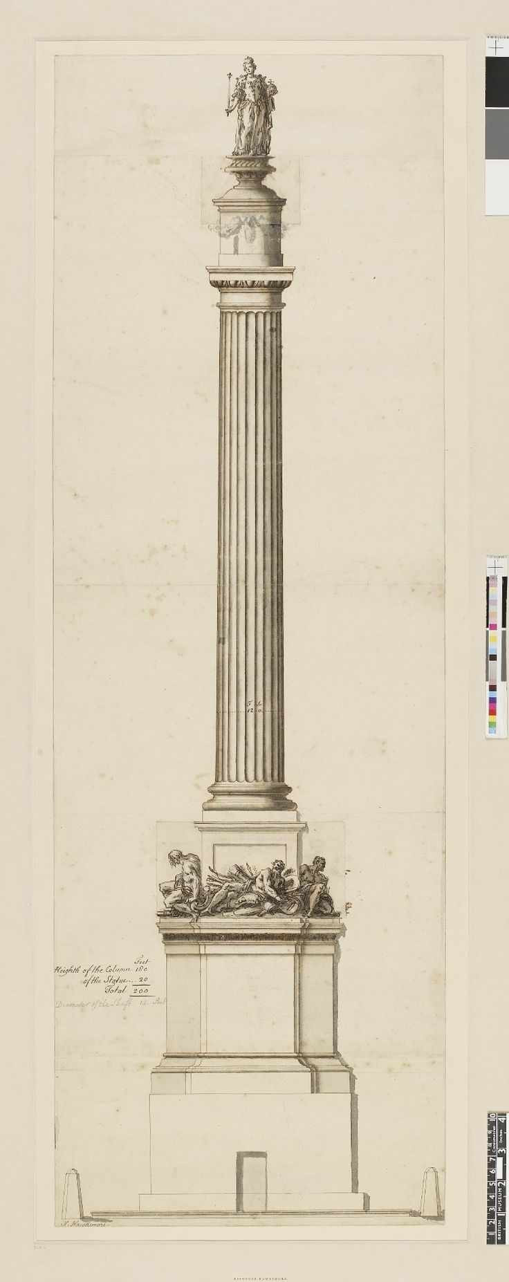 Design For A Column In Honour Of Queen  Anne