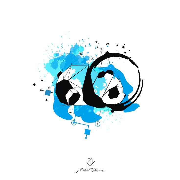 panda digital art