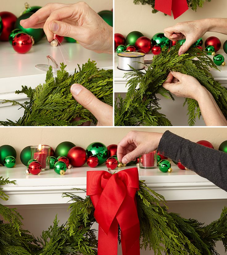 It's time to start decking the halls! Hang Christmas garland made of fresh, fragrant, real evergreens on the stairway banister or mantel. Learn how!