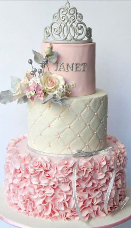 Gorgeous cake for a Princess Birthday Party