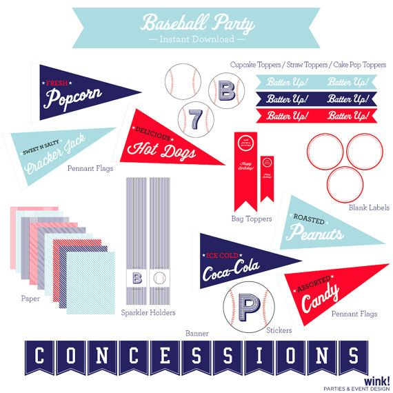Baseball Party Instant Download