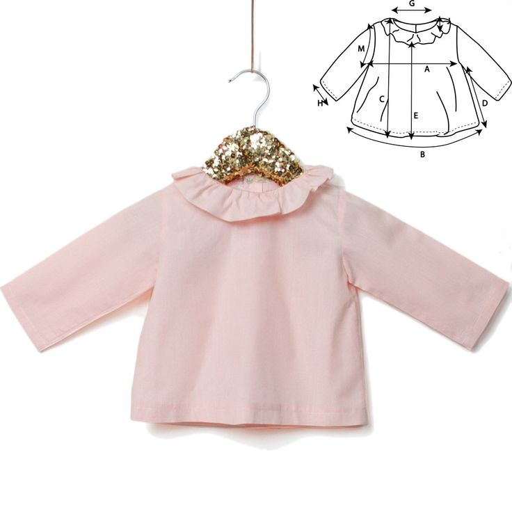 Sewing pattern & guidebook for Newborn Unisex A refined garment for the newborn wardrobe Elegant and convenient A frilled collar atneckline withbindin