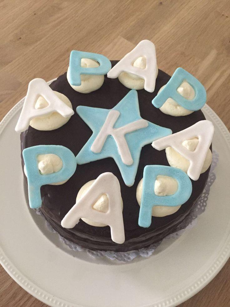 Taart gemaakt voor vaderdag. Kan ook als geboorte taart voor papa.