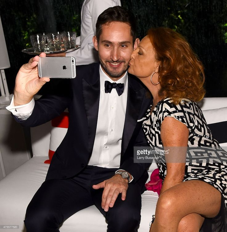 #Instagram founder and CEO Kevin Systrom and Diane von Furstenberg attend the 2015 #CFDA #Fashion Awards in #NYC (Larry Busacca) | #CFDAAwards #DVF