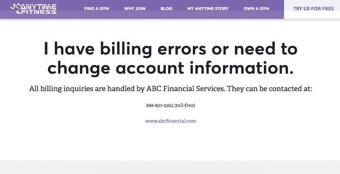 Anytime Fitness Bill Pay