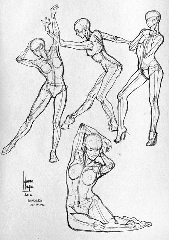 Some anatomical studies - (Sport) by Laura Braga, via Behance