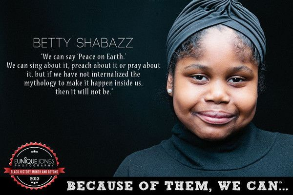 """Betty Shabazz"", Eunique Jones Gibson's 'Because Of Them, We Can' photos of kids posing as Black icons"